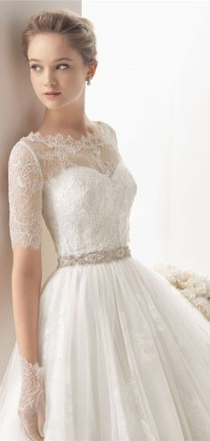 Sweetheart Empire Waist Elegant lace wedding dress