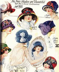 Good resource to Pop Culture in 1922    Ladies Flapper Hats From The 20's