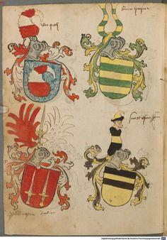 Tirol, Anton: Wappenbuch Süddeutschland, Ende 15. Jh. - 1540 Cod.icon. 310 Folio 66v