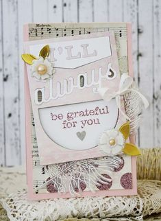 Always Be Grateful Card by Melissa Phillips for Papertrey Ink (March 2014)