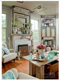 Beach Cottage/Shabby Chic - Romantic Homes Magazine
