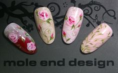 onestroke and lace #onstroke #swatches #nailart #moleenddesign
