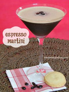 Espresso Martinis ~ 2 shots Vanilla Vodka, 1 shot Kahlua, 1 shot Fresh Espresso