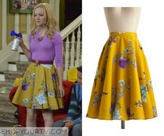 Liv & Maddie: Season 2 Episode 15 Liv's Yellow Floral Skirt