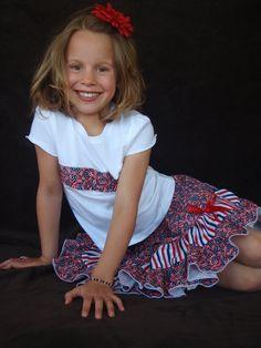 Beautiful Parley Ray Patriotic Girls Ruffle Skirt by ParleyRay, $40.00