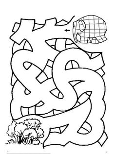 Begeleide of zelfstandige activiteit Library Activities, Book Activities, Preschool Activities, Elmer The Elephants, Early Finishers Activities, Mazes For Kids, Cool Coloring Pages, Beginning Of The School Year, Pre Writing