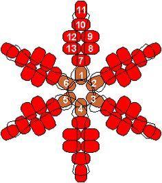diy bead snowflake ornament - Google Search