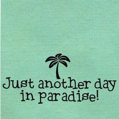 or sometimes it's just another shitty day in paradise like jimmy buffett once said.