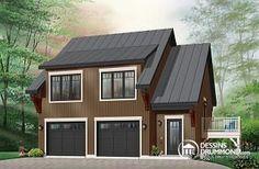Cronus Garage avec logement 2 chambres, balcon et espace ouvert - W3933