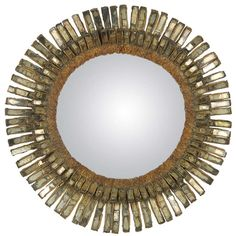 Rare Line Vautrin Mirror | From a unique collection of antique and modern wall mirrors at https://www.1stdibs.com/furniture/mirrors/wall-mirrors/