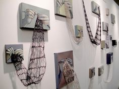 rania hassan's connections, knitting and painting.