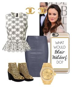 """""""GossipGirl-Blair Waldorf"""" by blackswan2712 on Polyvore featuring Casetify, Jitrois, Marc Jacobs, Chanel and Rolex"""