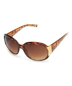 Look at this GUESS Havana & Gold Tiger Butterfly Sunglasses on #zulily today!