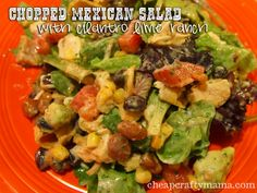 Mexican chicken chopped salad with lime cilantro ranch