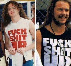 ◜ꕥ ཻུ۪۪│fotos jameson y klars. Metallica, Jason Newsted, Great Comebacks, James Hetfield, Metal Bands, Pretty Boys, Tank Man, T Shirts For Women, Guys