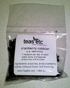 """""""Teas Etc Black Tea 'Cranberry Cobbler"""" by AmazonV"""