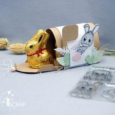 """Eva : #Tampons et #matrices de coupe #dies #4enSCRAP """"Mon petit lapin"""" #scrapbooking #boitecadeau Mini Albums, Avant Premiere, Tampons Transparents, Scrapbooking, Teddy Bear, Toys, Animals, Baby Farm Animals, Bunny"""