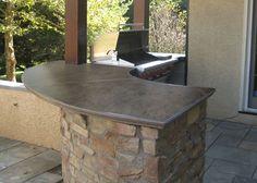 concrete outdoor entertaining ideas  Custom Concrete Countertops - Concrete - Trueform Concrete