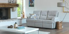Hartford 3 seater sofa Waffle Taupe by G Plan. Available from Rodgers of York #Sofa #Home