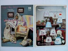 Vintage - Sugar Plum Fairy Cross Stitch and Quilting and Cross Stitch Nursery Night Lights Books - set of 2 by DocksideDesignsEtc on Etsy