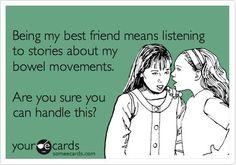 True friendship. LOL!!! @Rebekah Ahn Ahn