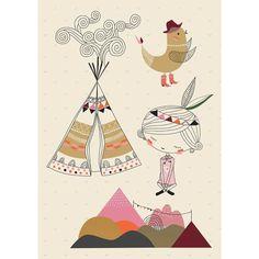 illustrateurs > Swantje & Frieda > Sticker Tipi Fille - Grand modèle : Poisson Bulle