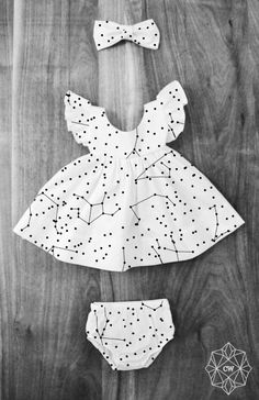 Handmade Constellation Baby Toddler Dress & Bloomers | CurieWear on Etsy
