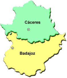 Mapa de Las provincias de Extremadura Lisa Simpson, Maps