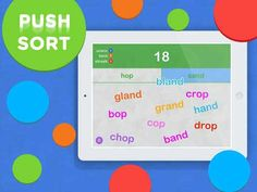 iSort Words - a quality vocabulary app that features 4 word games for kids to expand their vocabulary while having fun #topkidsapps #literacy