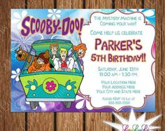 Scooby Doo Printable Birthday Invitation by LeiLuLiDesigns on Etsy