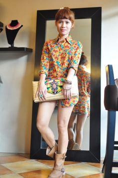 How to Dress Up A Man's Floral 70s Shirt #hippie #coachella