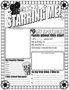 star of the week poster template - 1000 images about parent survey on pinterest
