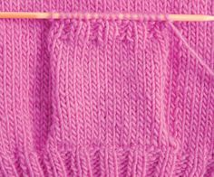 How to Knit Pockets - I need to remember this so I don't wind up with crooked pockets again.