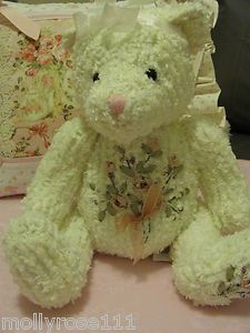 Bears made from chenille bedspreads. <3