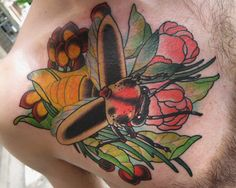 Lightning bug tattoo. I love this coloring