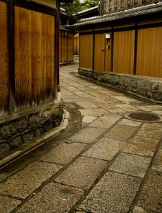 "a 1200 year old back street, Kyoto, Japan. Just like a garden path, turns and ""mystery"" abound with bent and curved layouts. Go To Japan, Visit Japan, Japan Japan, Okinawa Japan, Japanese Architecture, Pavilion Architecture, Sustainable Architecture, Residential Architecture, Contemporary Architecture"