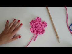 Crochê Moderno - Flor Moderna com fio de malha - YouTube