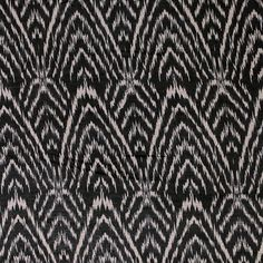 Cocoa Brown Black Ethnic Rows Cotton Jersey Blend Knit Fabric :: $6.00