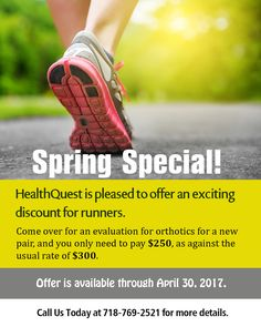 Spring Special! - #HealthQuest is pleased to offer an exciting discount for runners.