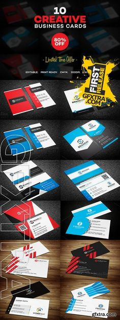 Gfxtra gfxtracom no pinterest 10 creative business card templates reheart Images
