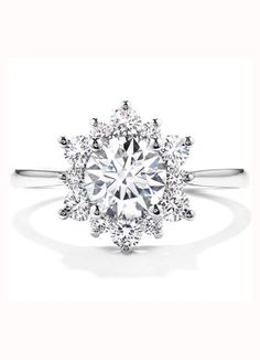 Unique Hearts on Fire delight Lady Di Engagement Ring
