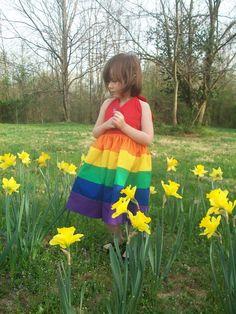 Rainbow dress $55.00