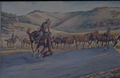 Bump In The Road, by Mike Capron; Texas Cowboy Art Bump In The Road von Mike Capron;