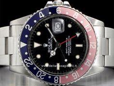 """Rolex Gmt-Master - Ref. 16750 - Cassa in acciaio 40mm - Vetro plexiglass-cyclope (vetro plastica) - Quadrante nero con indici a """"bicchierini"""" - Cassa a vite in 3 corpi - Bracciale Oyster in acciaio -"""