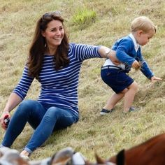 Prince George stole the spotlight from the sidelines! On Sunday, June Kate Middleton treated George to a sunny day at the Gigaset Charity Polo Match in Prince Georges, Prince George Alexander Louis, Duchess Kate, Duke And Duchess, Duchess Of Cambridge, Princesa Charlotte, Prince William Wife, William Kate, Prince Philip