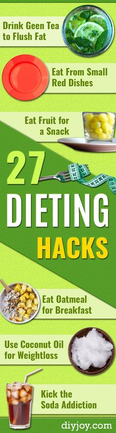 DIY Dieting Hacks - Lose Weight Fast With These Easy and Quick Ways To Shed Pounds and Detox Your Body - Best Diet Recipes, Tips and Weight Loss Tricks for a Slimmer You http://diyjoy.com/dieting-hacks