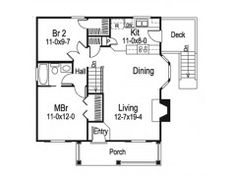 Eplans Cottage House Plan - Two Bedroom Cottage - 796 Square Feet and 2 Bedrooms from Eplans - House Plan Code HWEPL68202