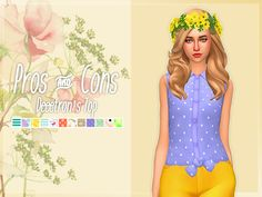 Nolan Sims here. I absolutely love any and all CC made by @deeetron– this is a known fact. And with her permission, she let me edit her Pros & Convertibles Top! I added a few of my favorite patterns, and gave the top a very springy look! Thank you so...