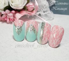 3d Nail Art, Nail Arts, Bling Nails, Diy Nails, Gorgeous Nails, Pretty Nails, Soft Pink Nails, One Stroke Nails, School Nails