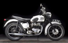 """https://flic.kr/p/Cx81gi   1959 Triumph T110 Tiger   THE LAS VEGAS MOTORCYCLE AUCTION Thursday, January 7th 2016 11am  Frame no. T110 013446 Engine no. T110 013446 Unveiled at the 1953 Paris Salon prior to the '54 sales season, the new T110 was all about performance, as the factory was only too proud to point out in the showroom literature: """"The 650cc Tiger 110 offers performance plus – with the most powerful Triumph engine ever produced. Every other detail of this magnificent motorcycl..."""